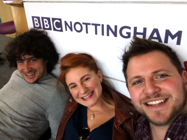 With Caleb Hawley and Chrissi Poland, Nottingham, UK