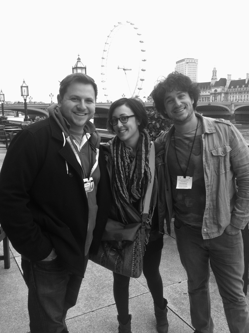 With Bess Rogers and Caleb Hawley, London, UK