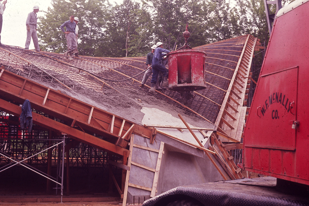 Roof being poured (1963)