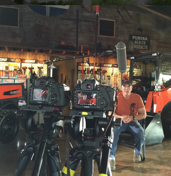 On the set shooting interviews at the Great Plains Kubota Dealership in Edmond, OK!