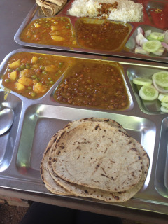 Lunch is a hali set from a local college. At 40 rupees it is 74c and I have to ask for no rice, as it is too much food.