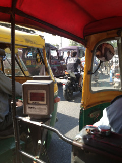 Next time you are in peak hour in your car and feel like complaining, think of me stuck in this. My daily auto rickshaw ride to work.
