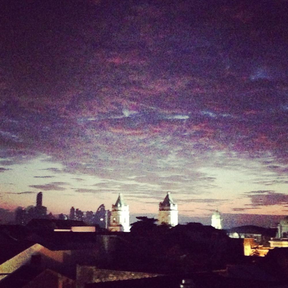 The dawn over Panama City