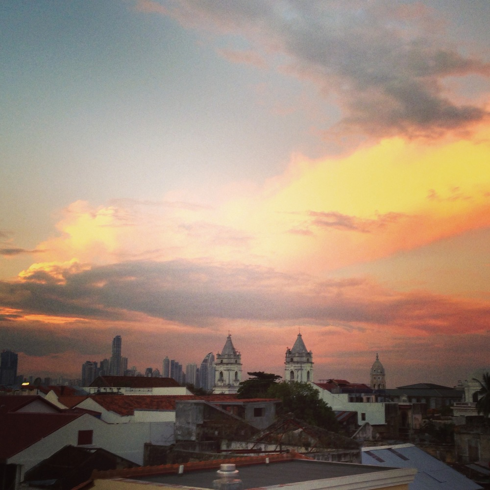 The sun sets on my Central American adventure