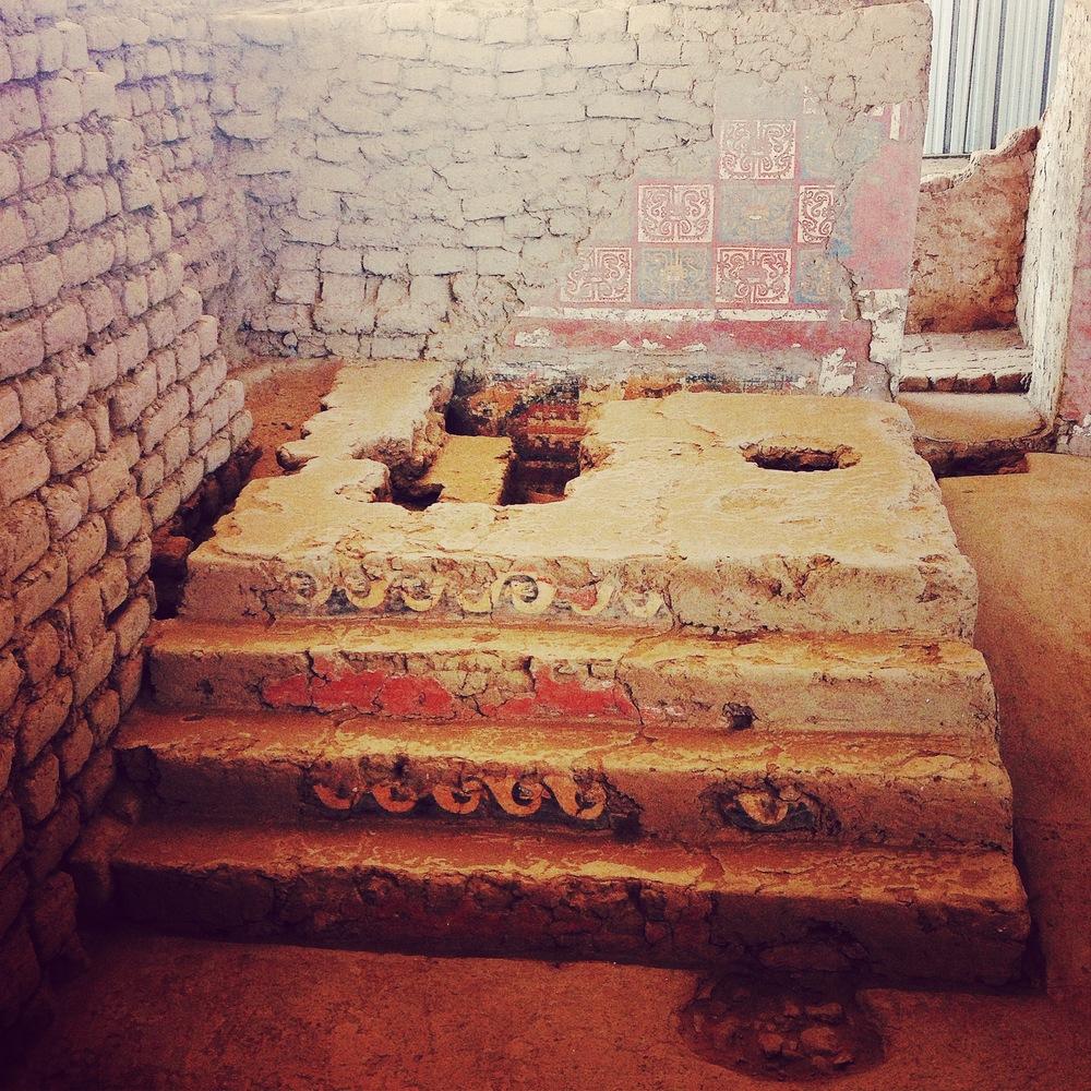 The ceremonial platform in Huaca de la Luna