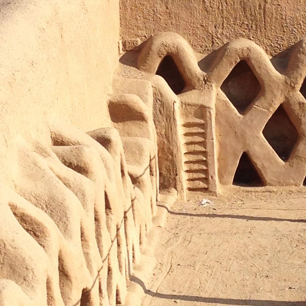 The beautiful clay walls of Chan Chan