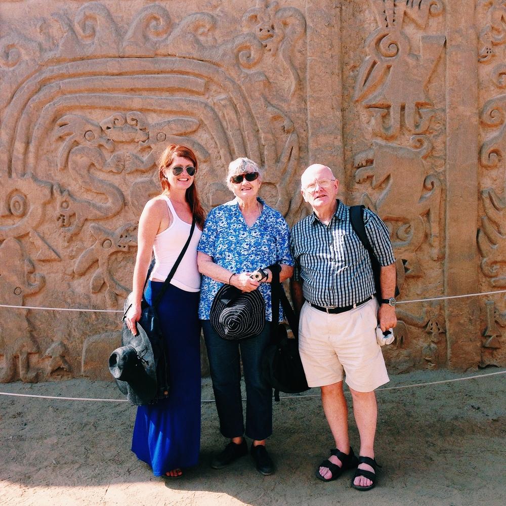 The frieze of Huaca el Dragon, part of Chan Chan
