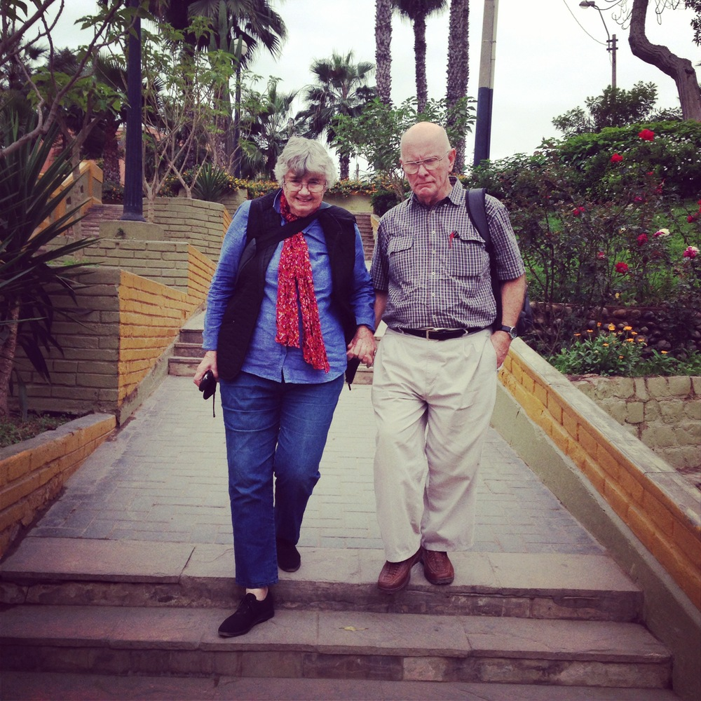 Still holding hands after over 40 years of marriage