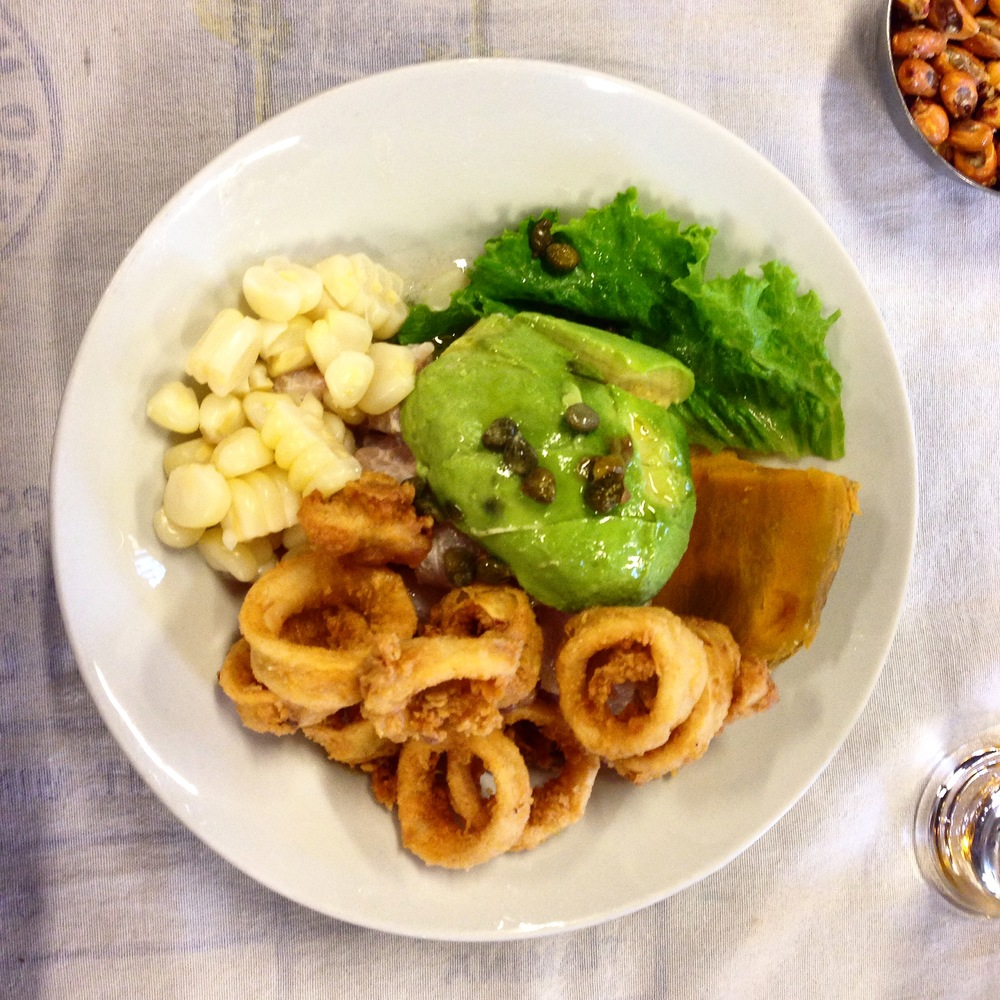 Apartado con chicharron: god of ceviche
