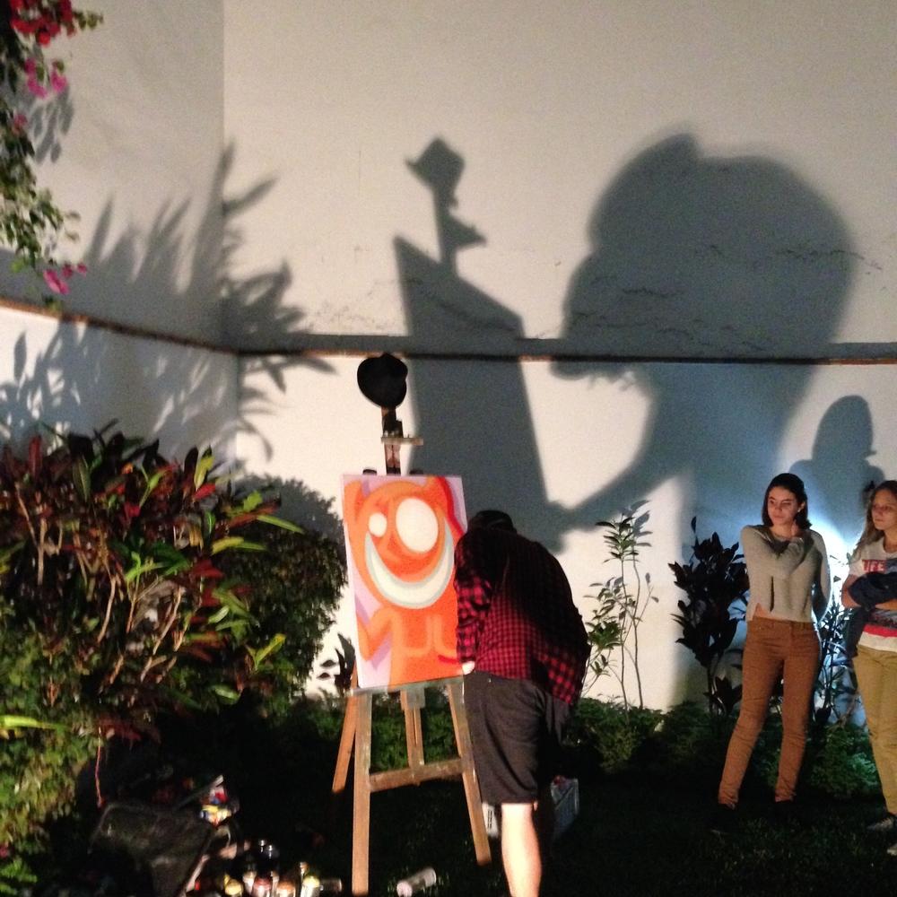 Spray paint magic at Sofar Lima