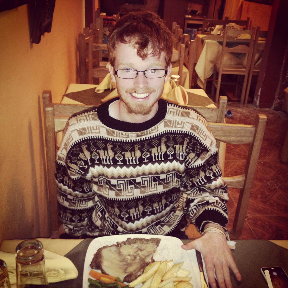 The fabulous Mark eating llama