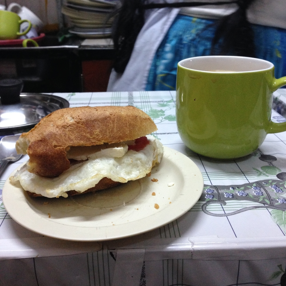 Huevo sandwich