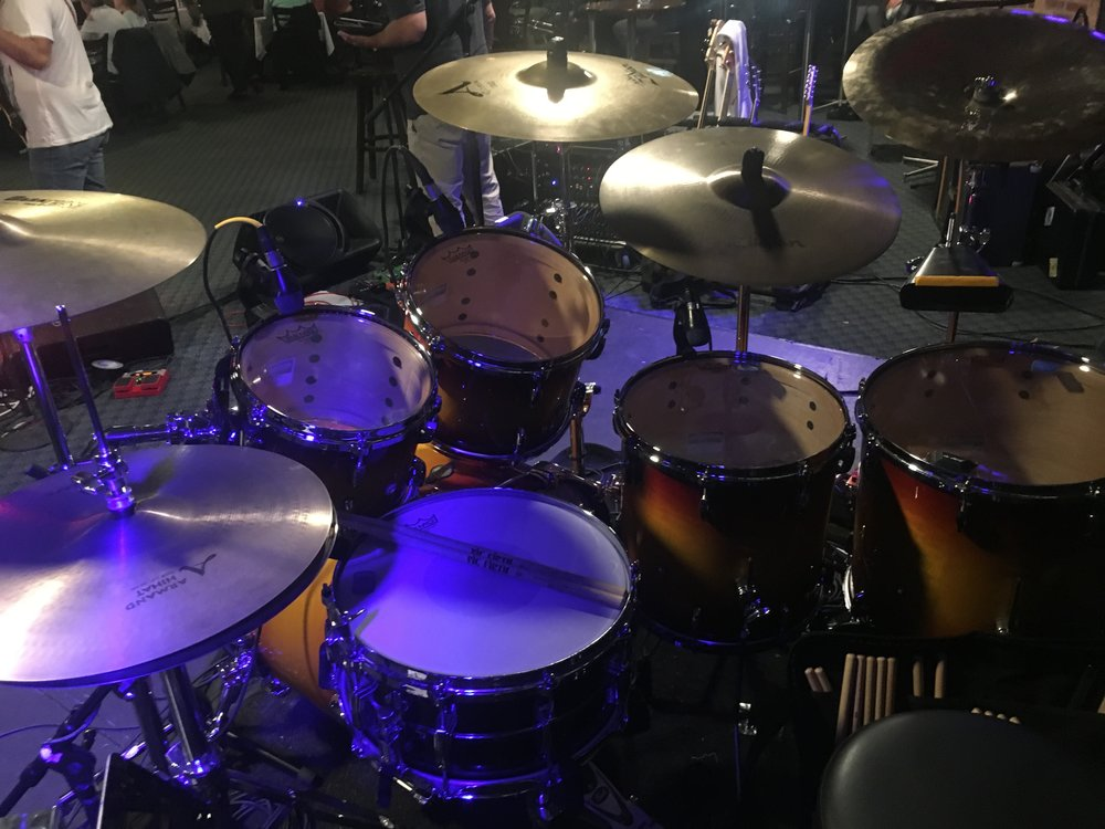 Pearl kit setup for Kranks gig