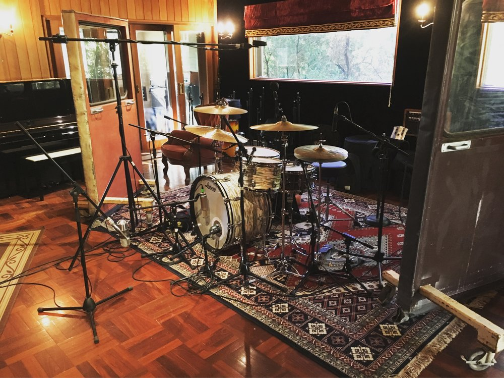 Recording Drew McAlister's album @ The Grove Studios
