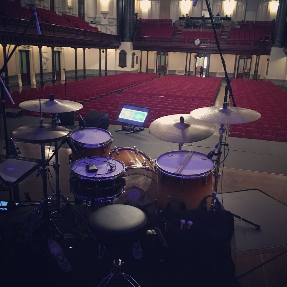 Sydney Town Hall soundcheck with Rebecca St James 2015