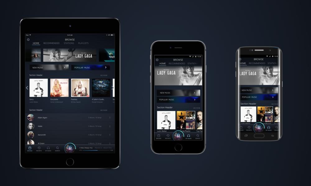 Amazon Music Home feature design
