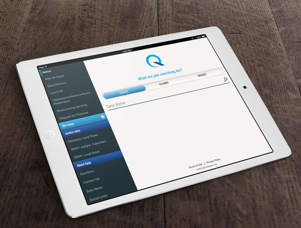 EPIQ SYSTEMS IPAD/IPHONE APP    A legal data provider goes mobile with a new smartphone and tablet app.