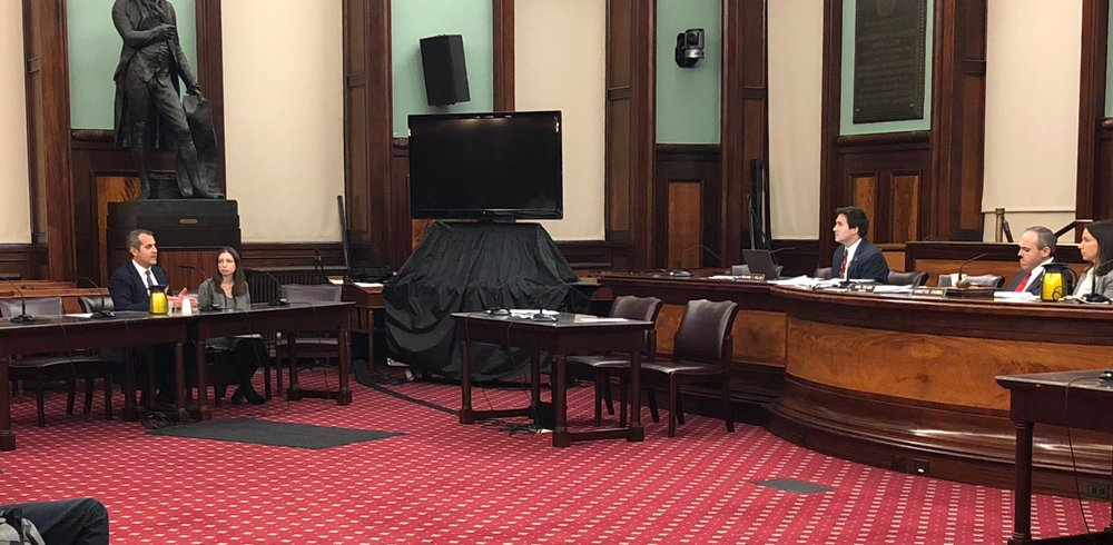 Jesse Cole Cutler testifies at the NYC Council Education Committee's Oversight Hearing on school bus problems, October 16, 2018.