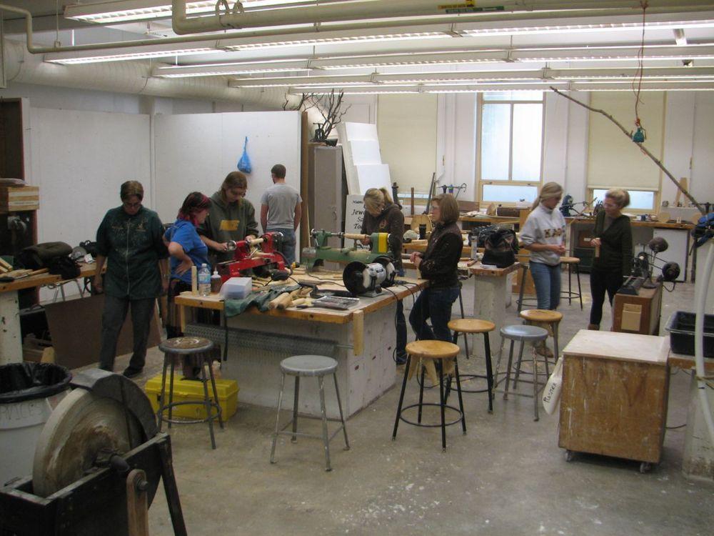 Miami University Sculpture studio with extra lathes