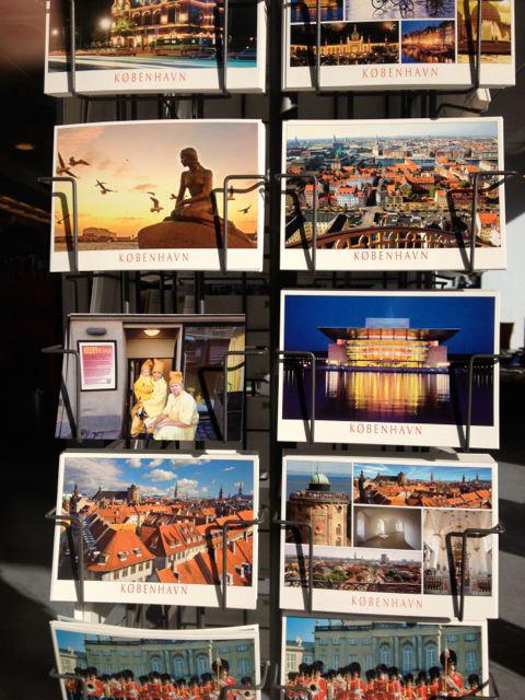 Official Howdy/Hej-hva så commemorative postcard for sale throughout Copenhagen.