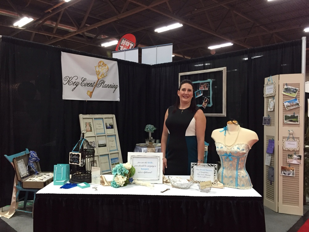 Nicolle welcoming visitors to her first Bridal Fantasy booth.