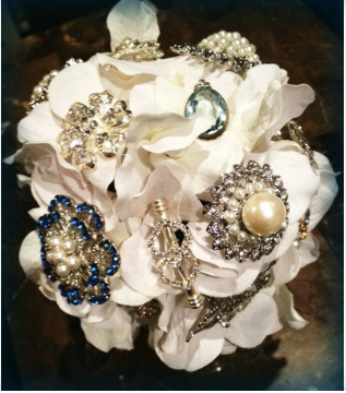 The Winter Solstice Brooch Bouquet made by Be Loud Bouquets