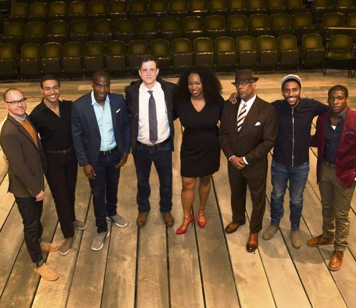 Stuart (left) and the City Theatre Company cast of  The Royale
