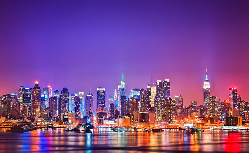Wonderful NEW YORK, NY / CITY LIGHTS / NIGHT TOUR / 4 HOURS