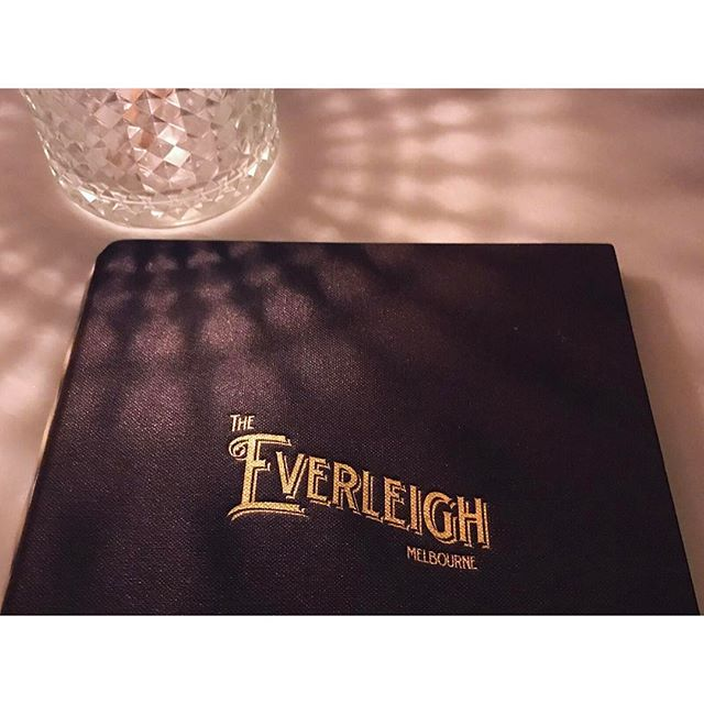 /// huge branding & decor crush on @TheEverleigh 😍 --- #theeverleigh #melbourne #melbournebars #branding #goldfoil #debossing #logo #identity #type #typography #fitzroy