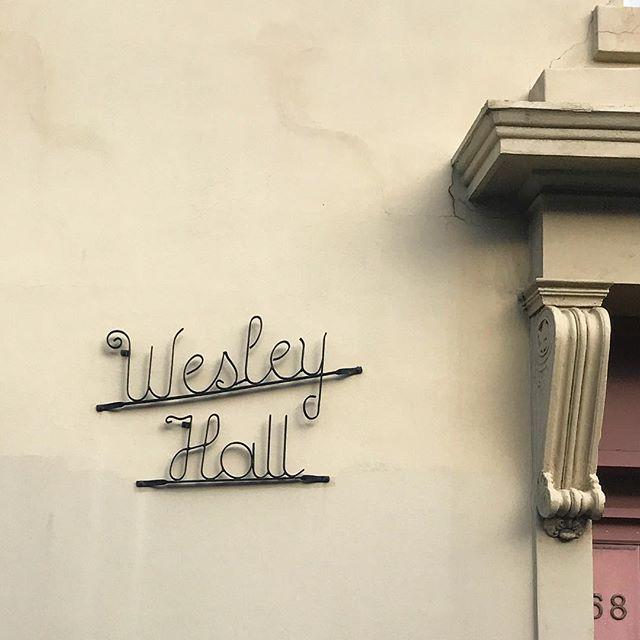   WESLEY HALL   #twchomesweethomeseries • • • #typography #type #fortheloveoftype #font #melbourne #toorak #homesweethome #deauville #signage #art #design #retro #goodtype #lettering #letteringlove #steel #metalwork #hobart #tasmania