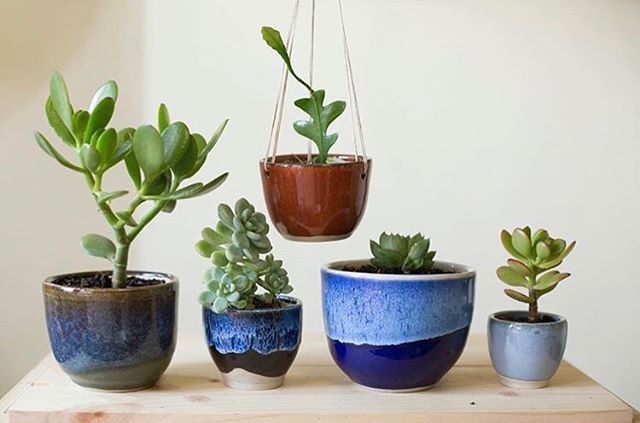 /// favourite things. handmade by @rj_pots. photographed by @juliavnn. . . . #pots #glaze #ceramics #succulents #melbourne #shopsmall #shoplocal #melbourneartist #handmade