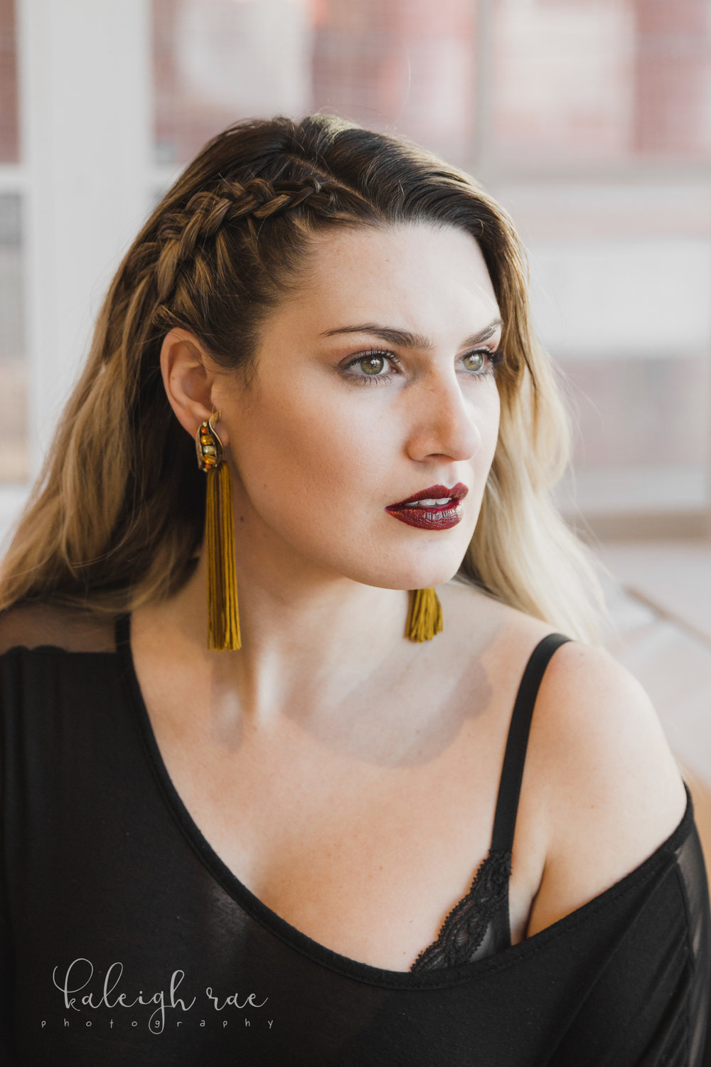 Photo Credits:  Photographer: Kaleigh Rae Photography  Earrings: #FringeGang for Neon Beautiful Design  Hair: Bombshell Studios LLC  Makeup provided by Jennifer Bradley Cosmetics