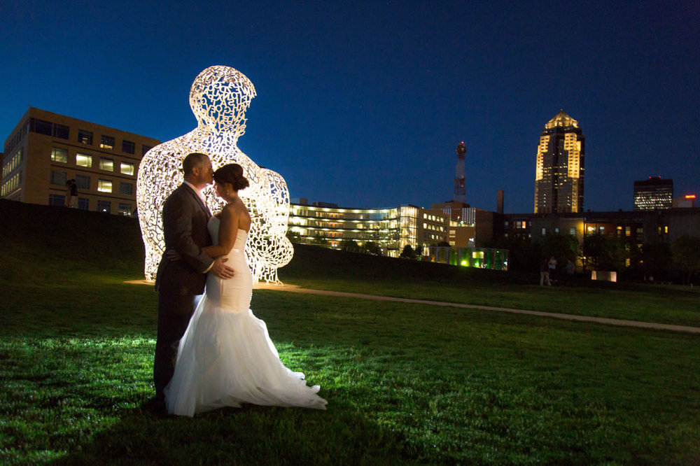 Papa John Sculpture Garden wedding