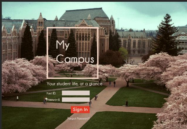 Login screen on the desktop version