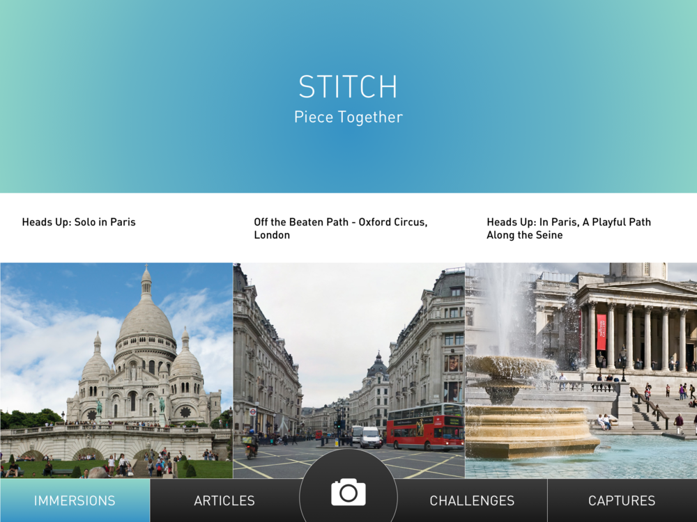 Home Screen of the Stitch app
