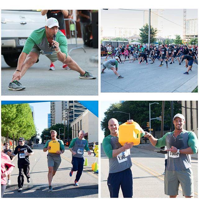 Flashback, Flex, Fitness Friday!! To that time #BodyMountain got to lead the warm up & stretch at the 2nd Annual Firebird 5k benefitting Charity Water. & I got to carry 40lbs of water for the last mile of the 5k relay, showing what other countries have to go through just to get clean water, carrying a 40lb jug for over 3 miles.  Such a blessing & privilege to do this, so thankful to get to work with and train the amazing people of The Firebird Restaurant Group and do things like this. #FlashbackFriday #FlexFriday #PersonalTrainer #Dallas #fitness #fitlife #fitfam #5k #UptownDallas #workout #bodybuilding #crossfit #fatloss #weightloss #muscle #cardio #hiit #bjj #mma #strength #abs #npc #ifbb #sports #athlete #health #run