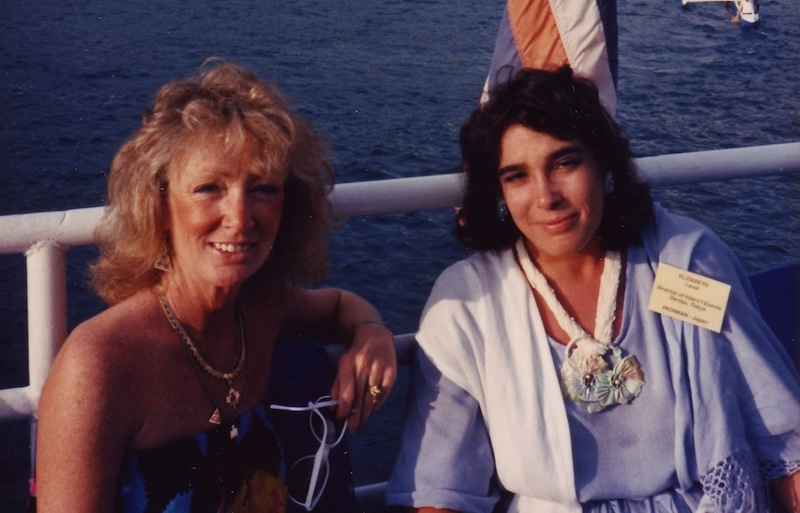 Elizabeth Laval with Lynn Van Dove in Hawaii, c. 1988