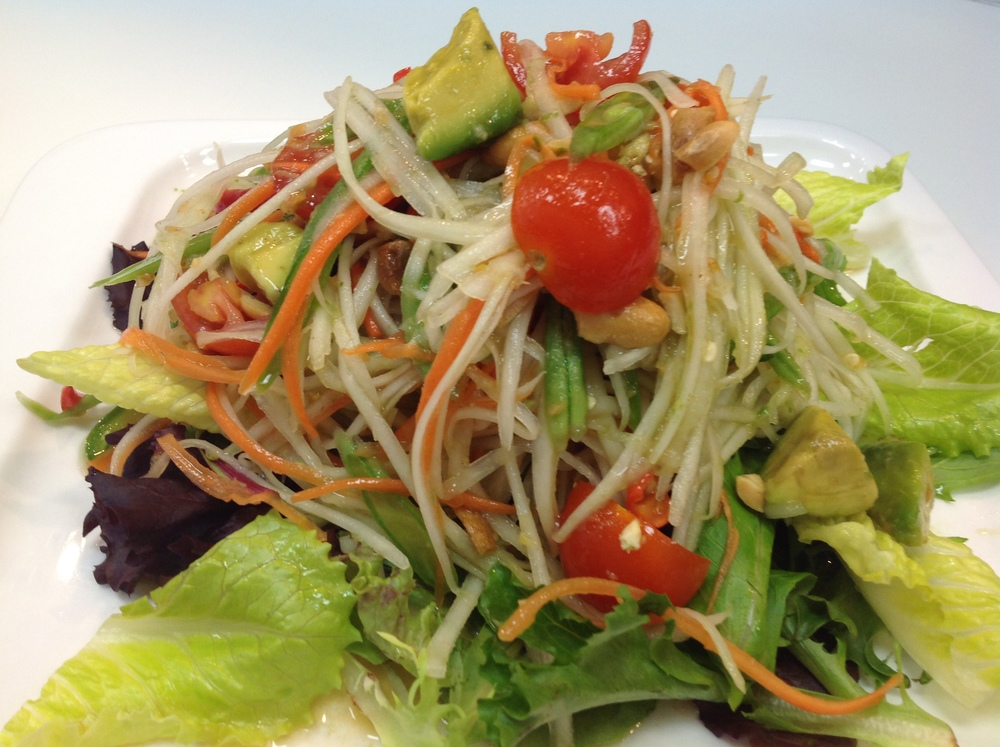 Papaya Salad with Avocado
