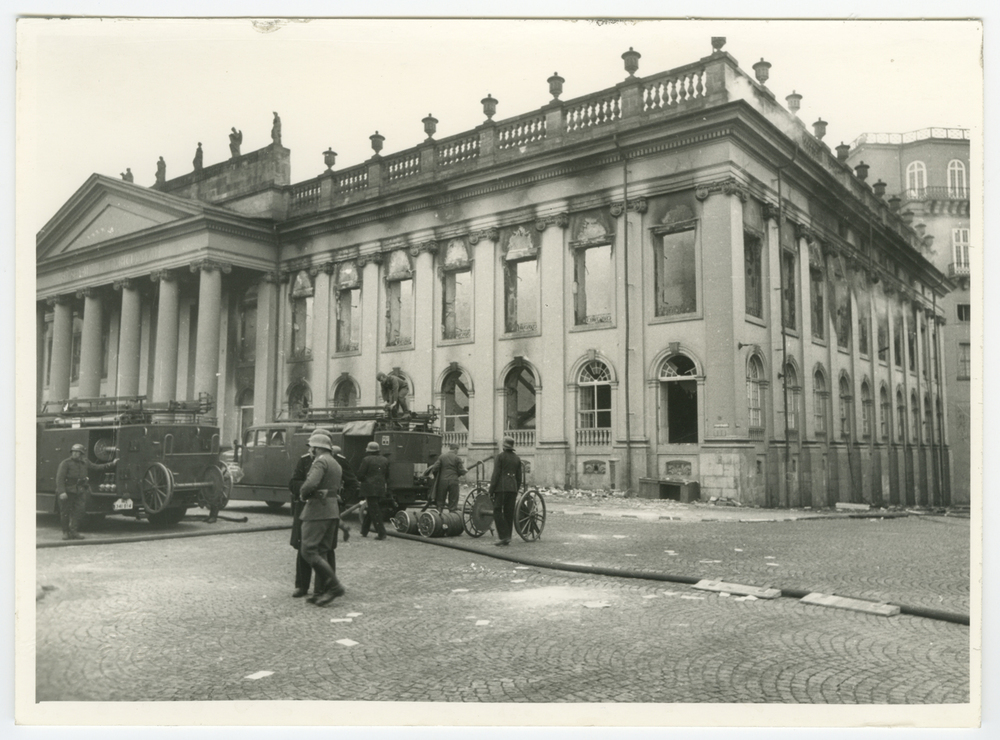 The Fridericianum in Kassel, Germany after it was bombed by the British Royal Air Force on September 9, 1941.