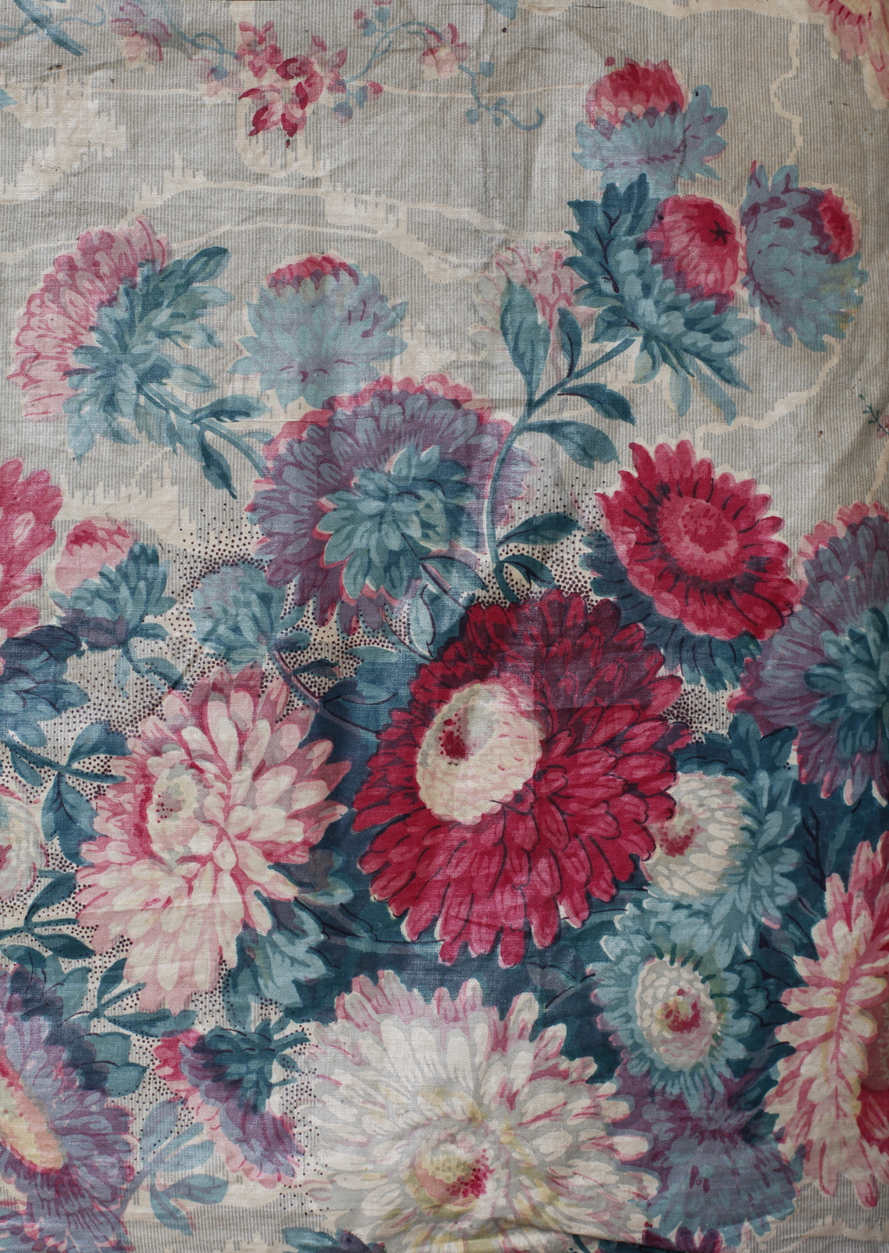 C19th French chintz linen