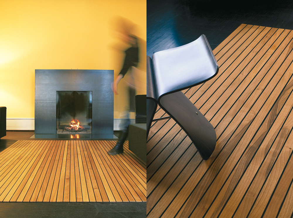 Legno-Legno Bois pur, la sensation: Un véritable tapis en bois – qui peut être roulé! – offre de nouvelles possibilités pour l'aménagement du sol.