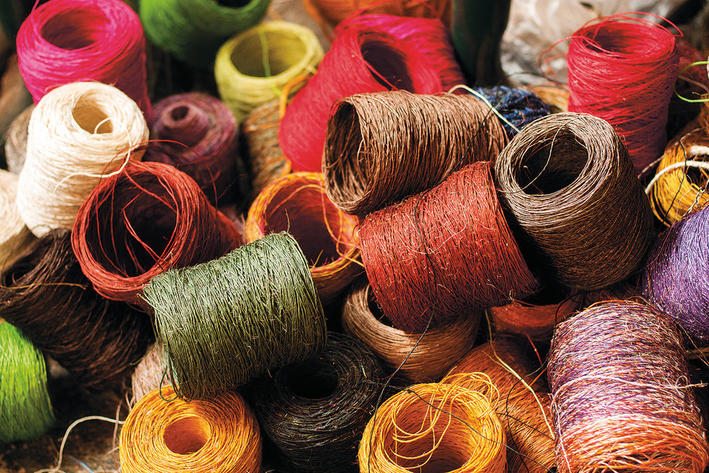 Based on colourful knitting stitches, Maglia gives your living room a touch of South American rhythm.