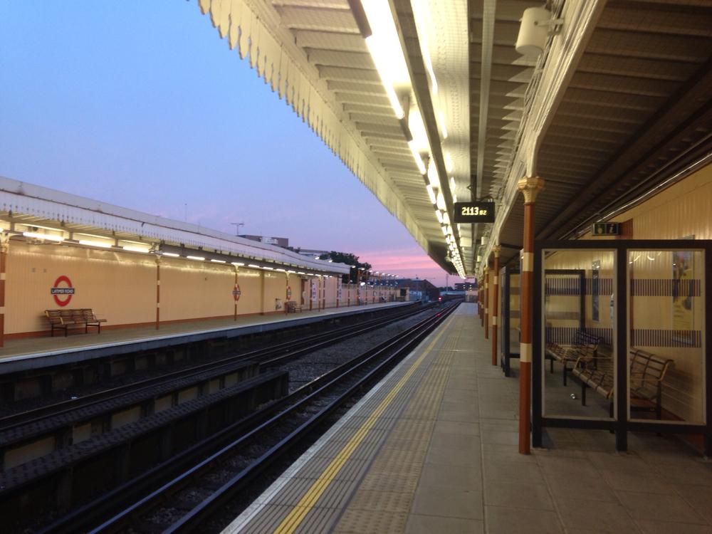 Latimer Road tube station, London, UK