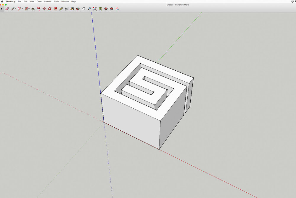 Step 3  The file is then exported from SketchUp as a .STL file
