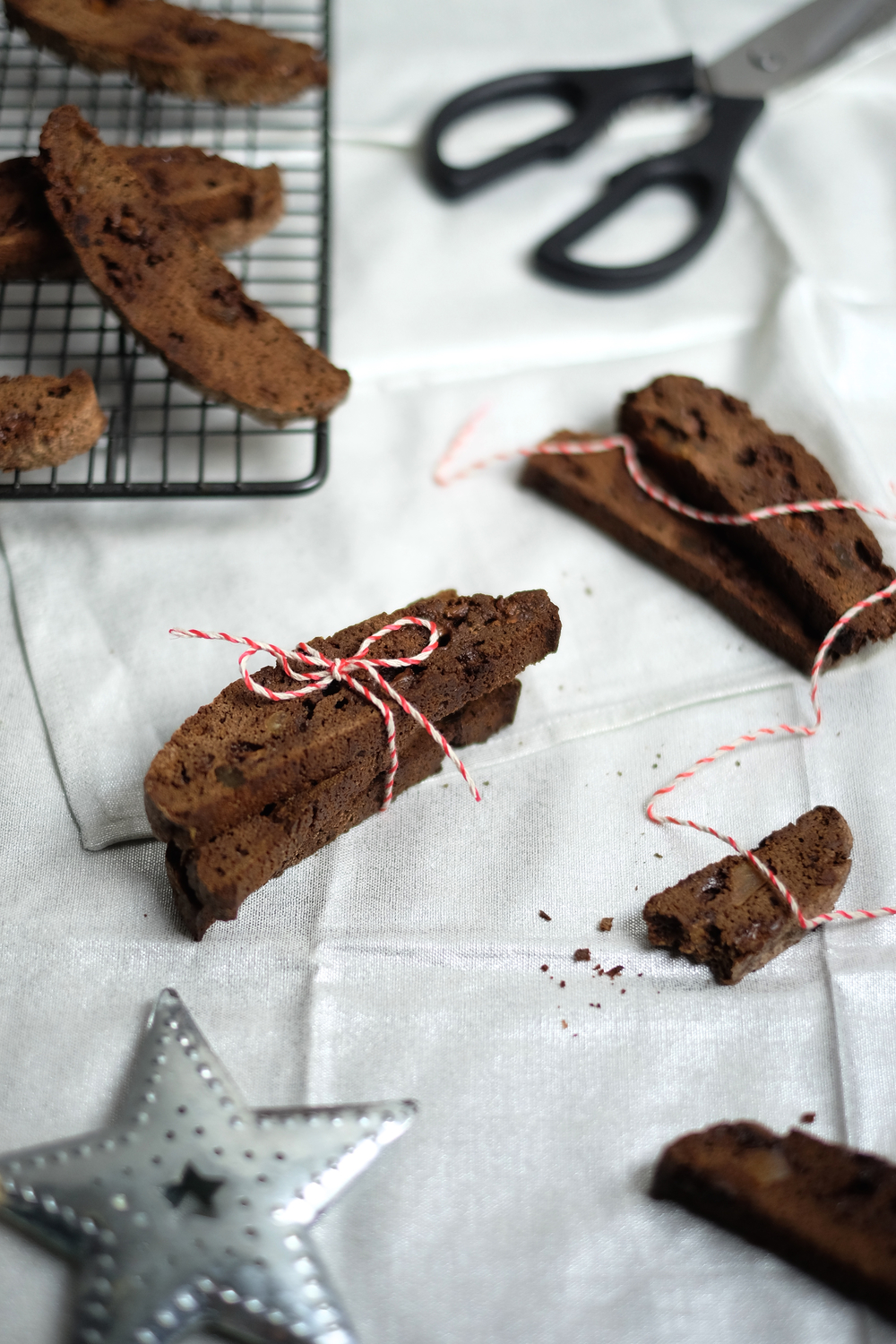 DOUBLE CHOCOLATE AND GINGER BISCOTTI — JOHN WHAITE