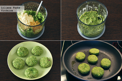 Receta medallones de brocoli vegano.