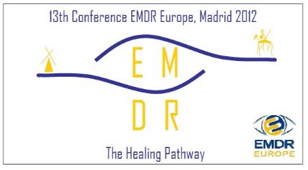 EMDR: Logo del 13º Congreso Internacional Europeo en 2012. Creado por la psicóloga Silvia Sánchez García (consultora en EMDR).  Consulta aquí los requisitos para ser consultor.