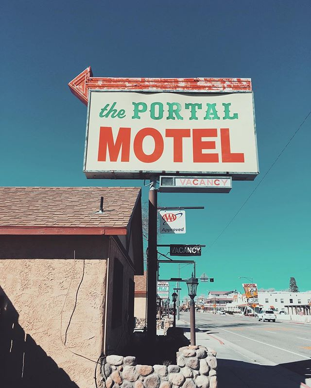 The Portal Motel: amenities include free wifi, air conditioning, and travel to other dimensions. #motelsofthedesert