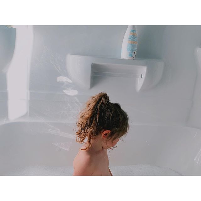 Ponytails and midday baths. #favouritethings