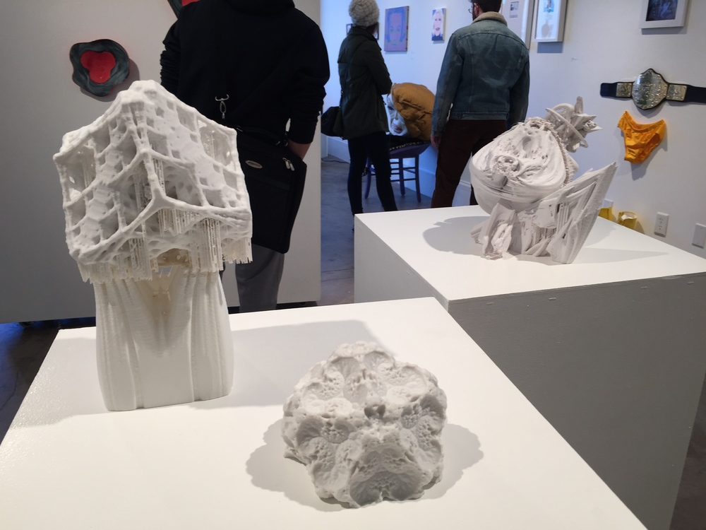 Fractal Series 2 ABS plastic 3D printed assemblages  at the Non-Fiction Gallery for PULSE Tech+Art Festival 2015  .   View 3